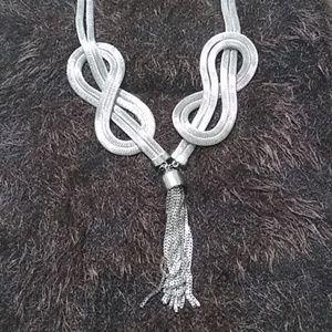 Vintage Tassel Silver Necklace